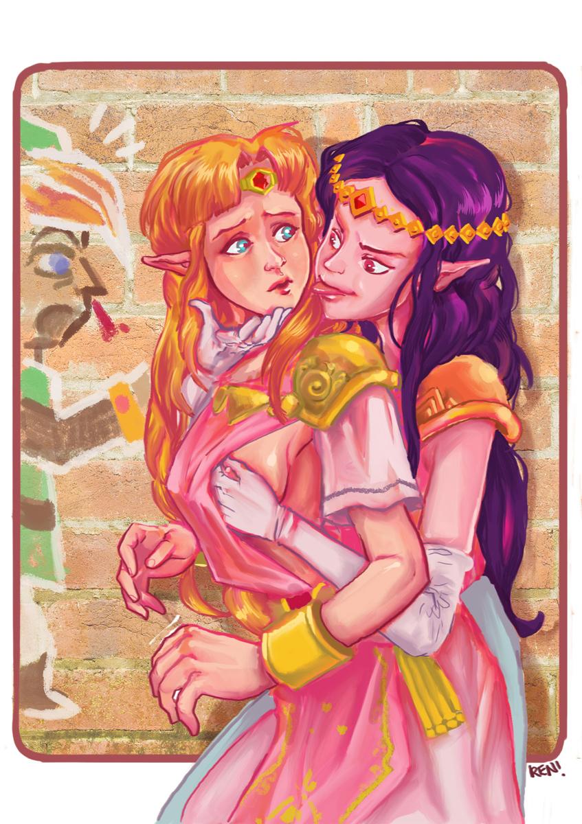 a link worlds zelda between princess Darker than black pizza hut