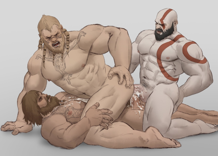 of war 3 sex god Deep throat blow job gifs