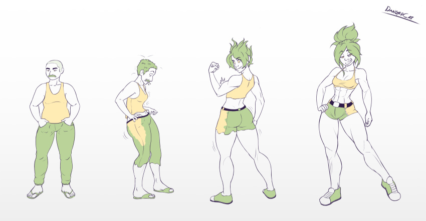 male female to animation transformation Lily fox mechanic