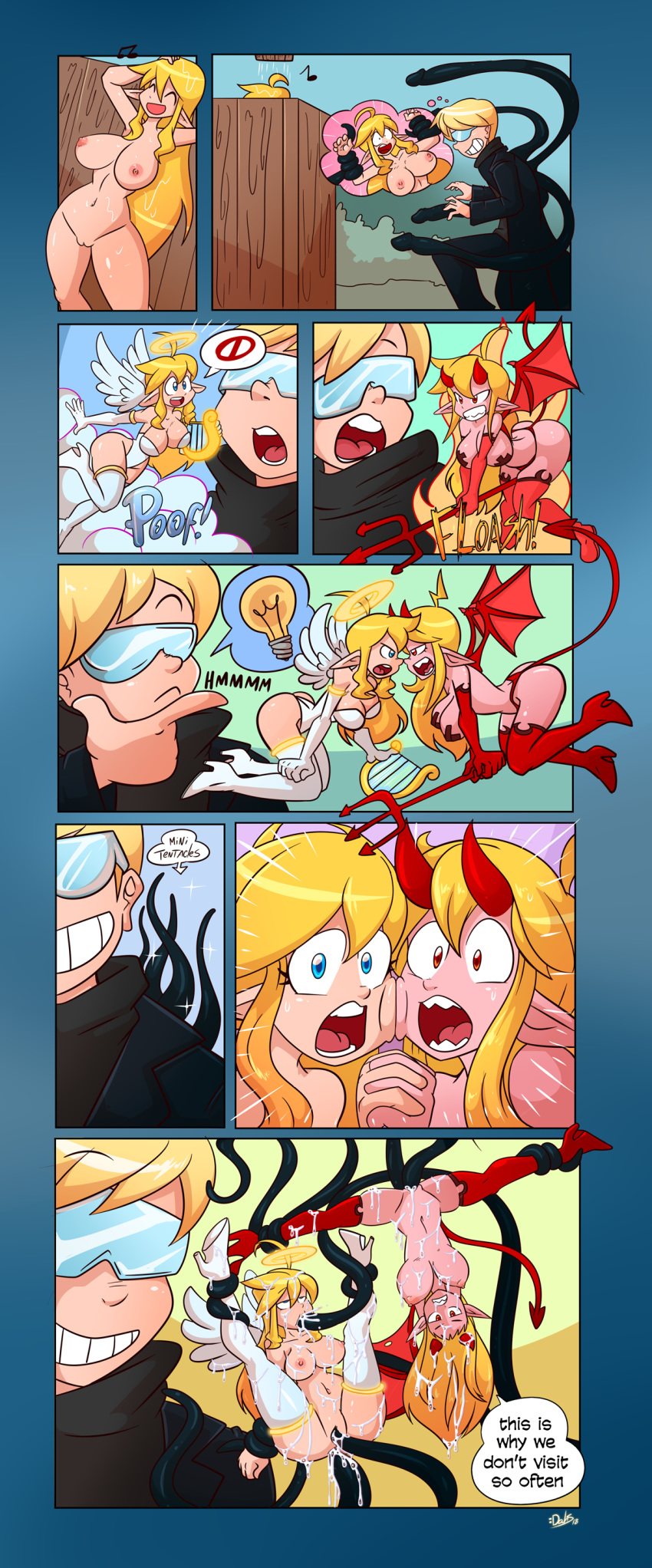 boy demon and girl angel Five nights at freddy's in anime